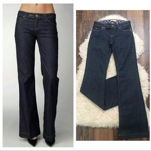 Paige Coldwater Canyon Dark Flare Trouser Jeans